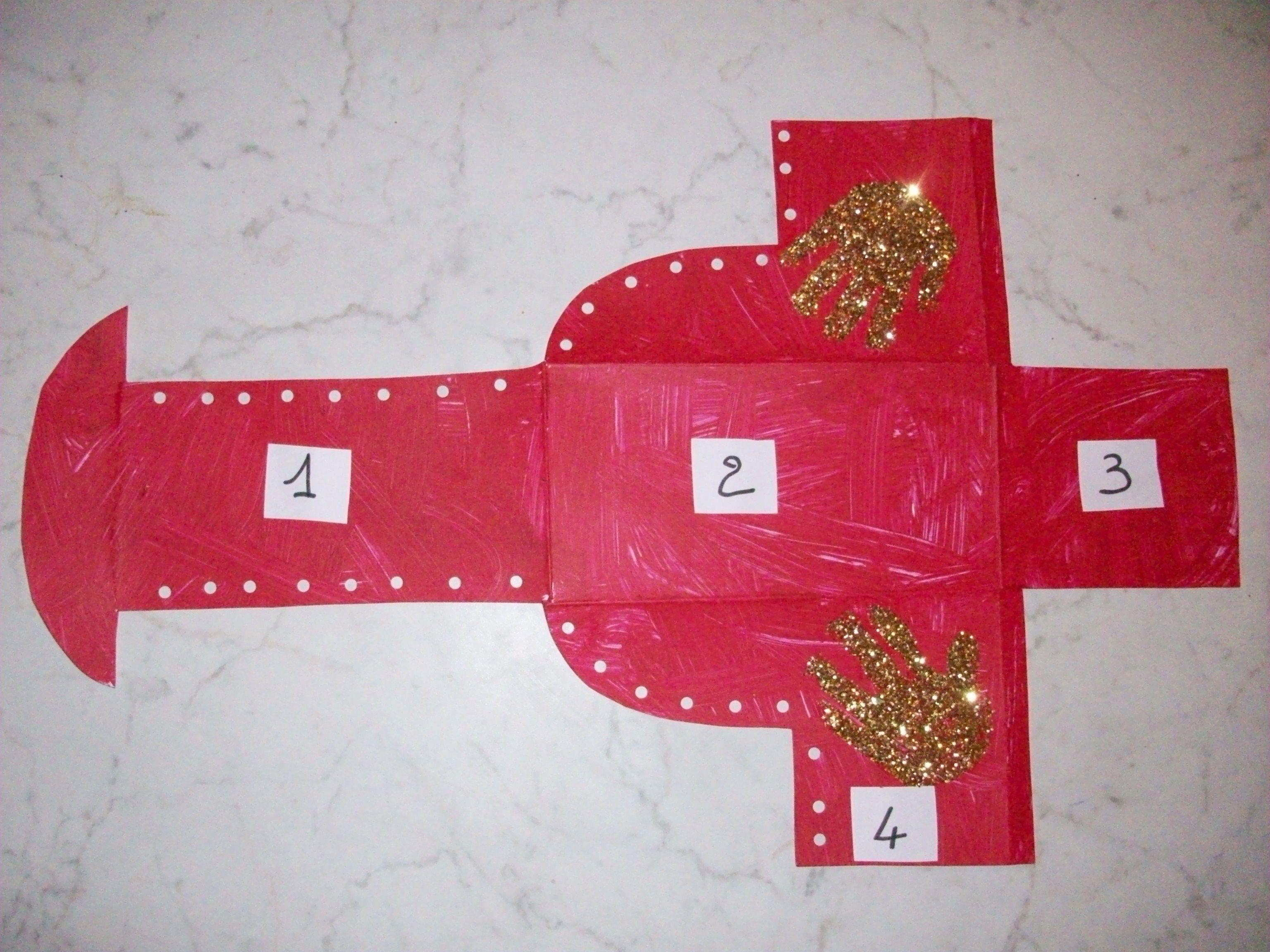 Botte du p re no l en 3d suite - Fabrication de noel en papier ...